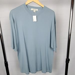 💥NWT Men's 100% Silk Short Sleeve Sweater - XXL